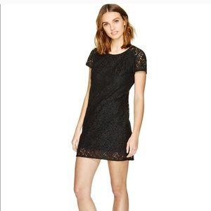 Talula Lace Floral Dress Shortsleeve Black Medium